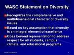 wasc statement on diversity