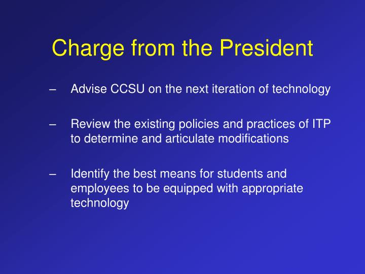 Charge from the president3