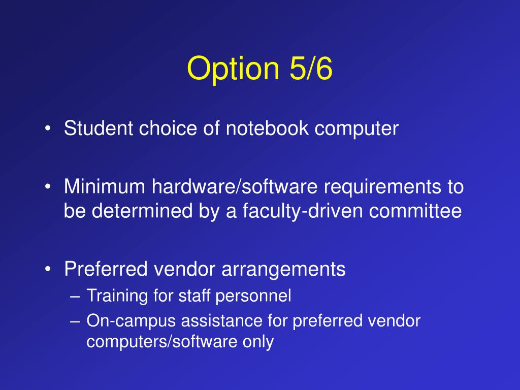 Option 5/6