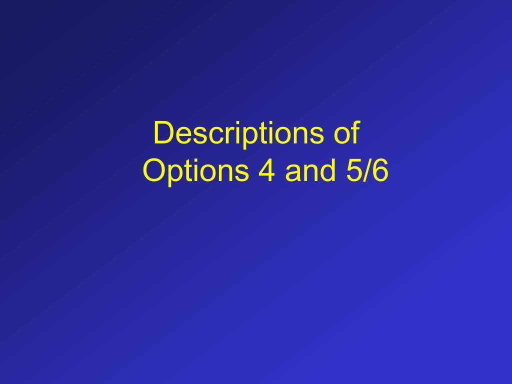 Descriptions of