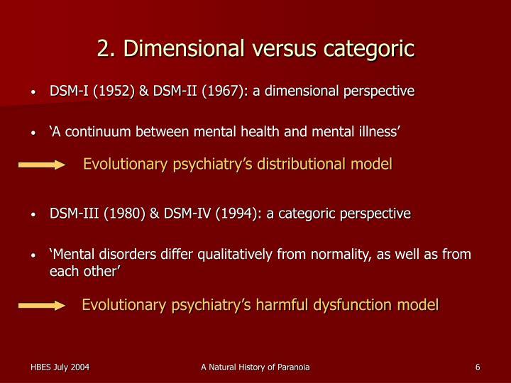 2. Dimensional versus categoric