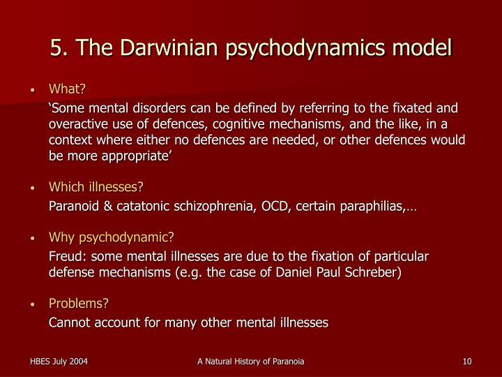 5. The Darwinian psychodynamics model