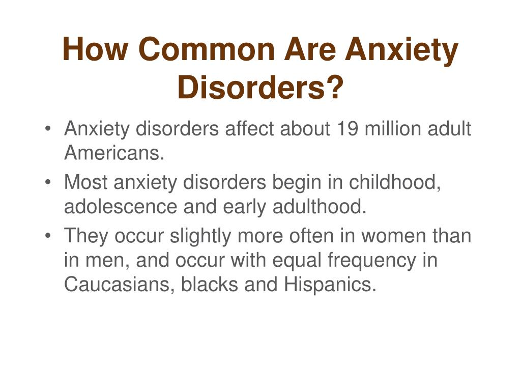 How Common Are Anxiety Disorders?