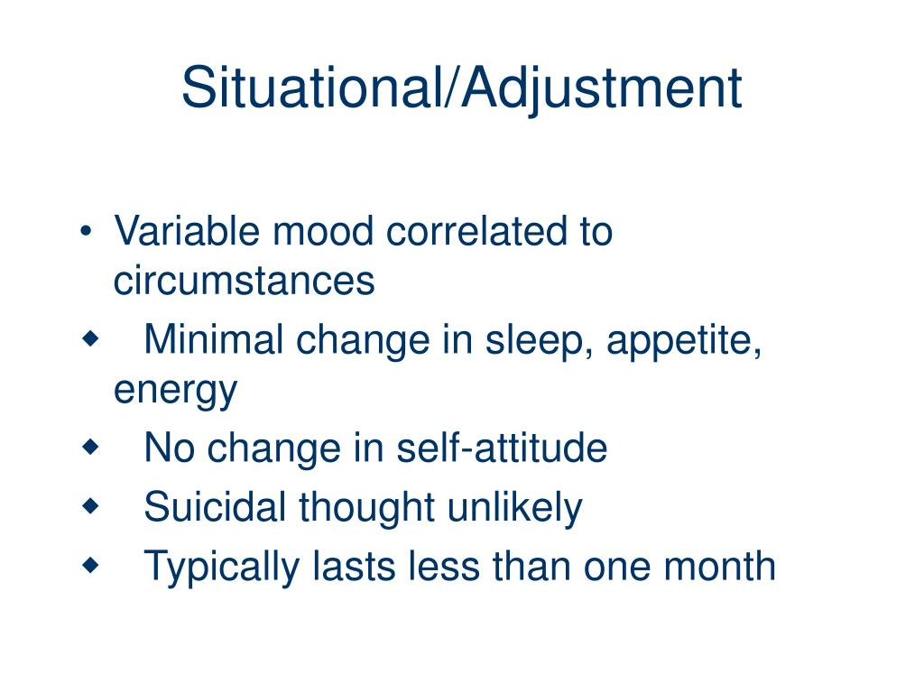 Situational/Adjustment
