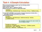 task 4 a sample calculation