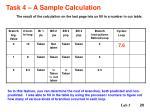 task 4 a sample calculation20