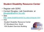 student disability resource center