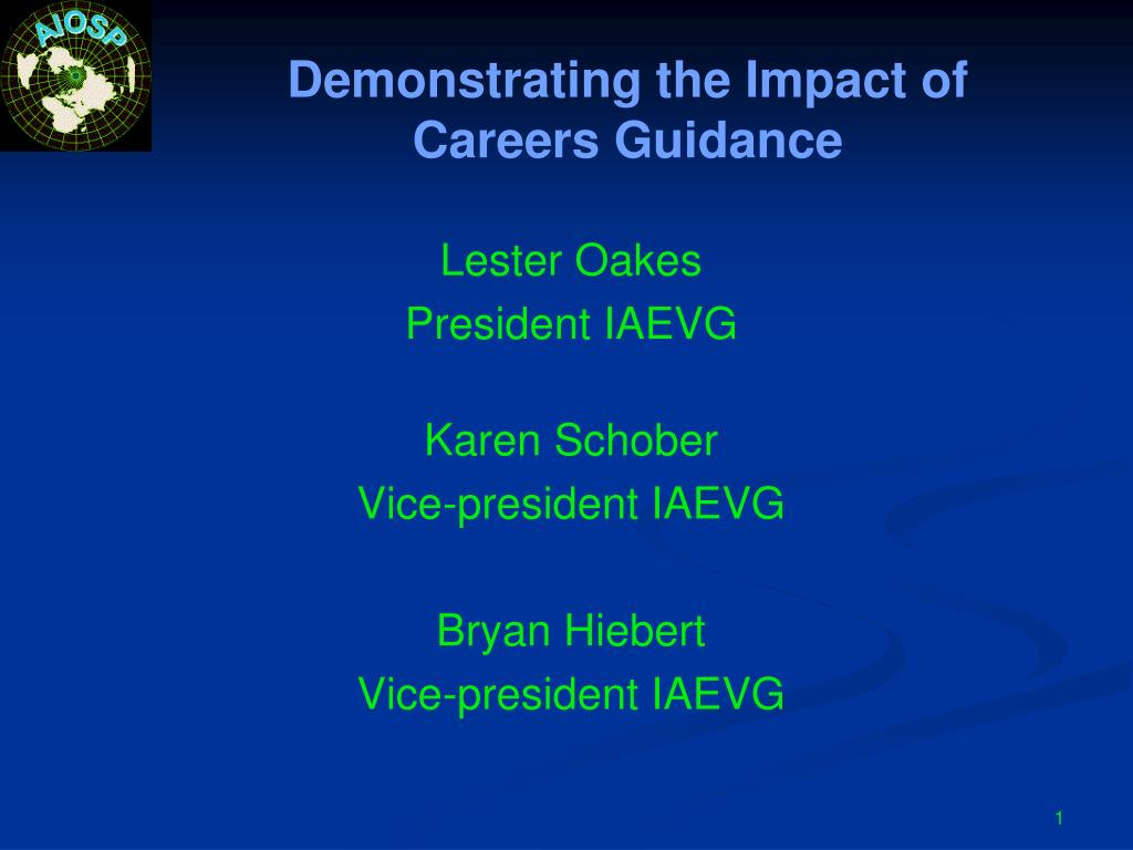 demonstrating the impact of careers guidance