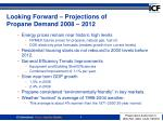 looking forward projections of propane demand 2008 2012