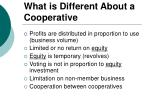 what is different about a cooperative