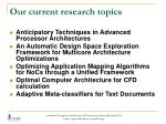 our current research topics