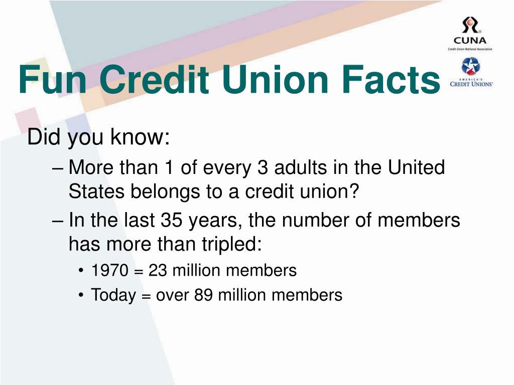 Fun Credit Union Facts