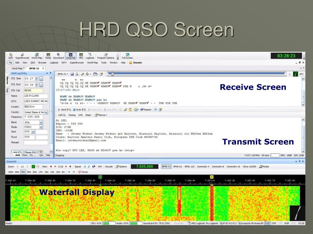 HRD QSO Screen