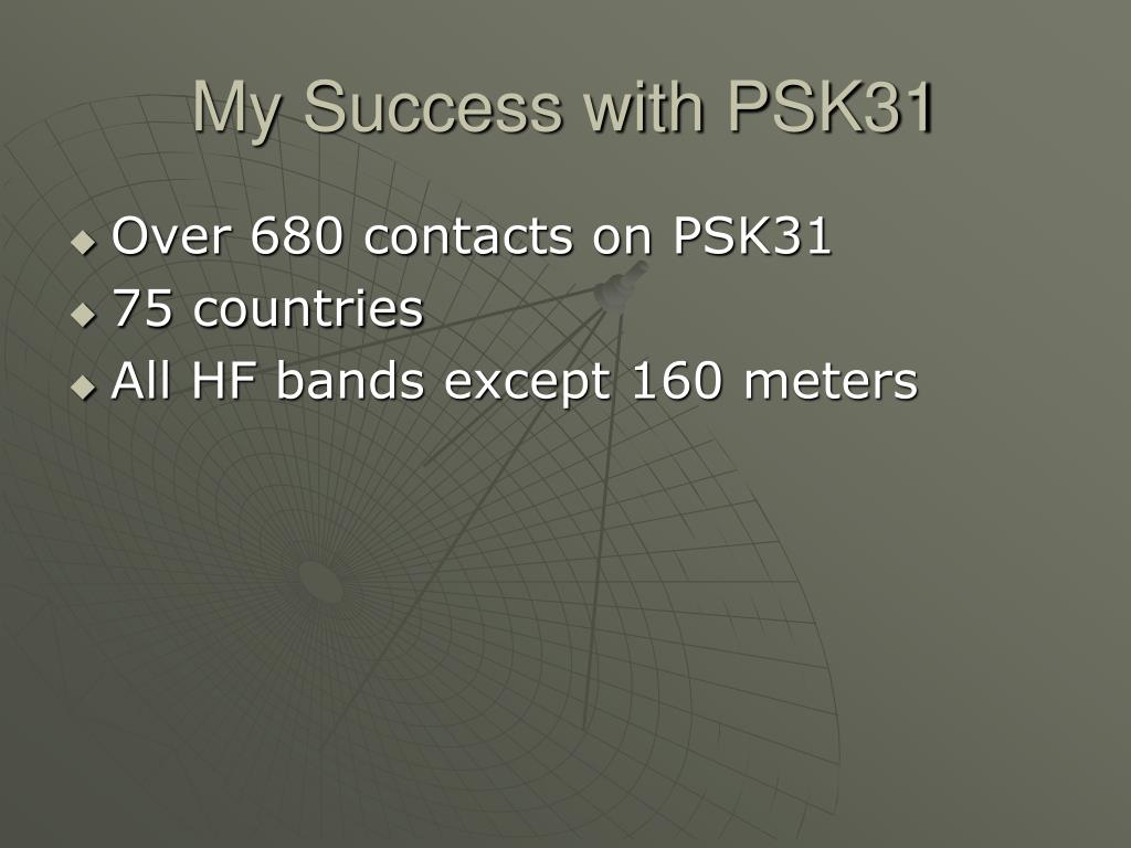 My Success with PSK31
