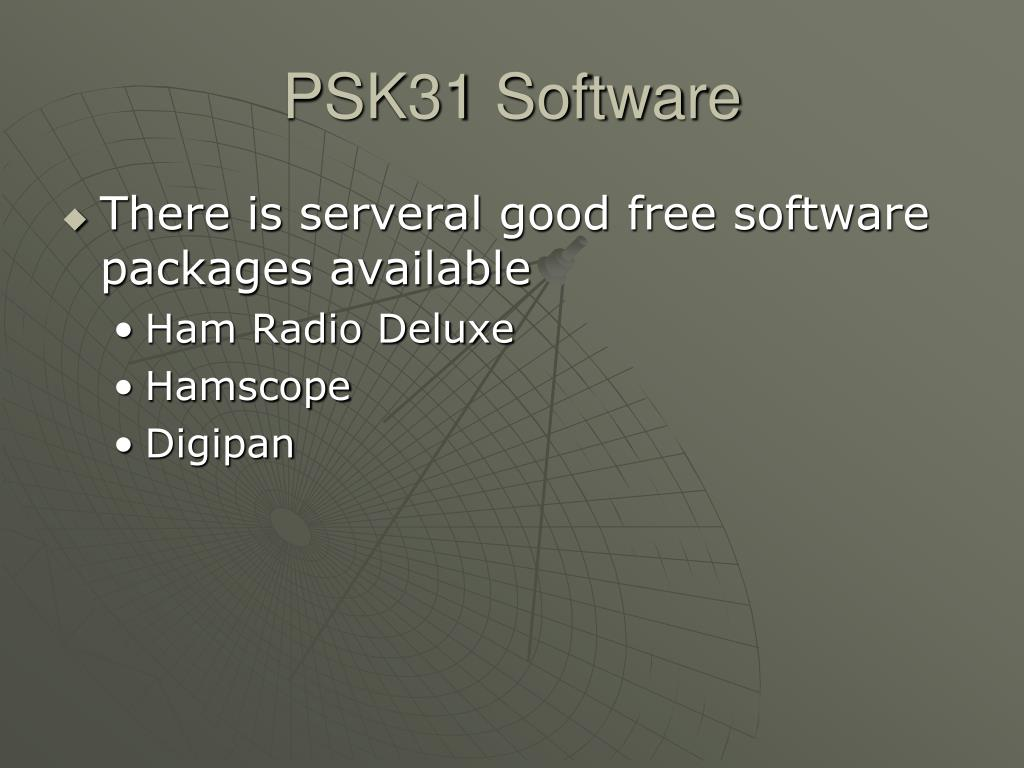 PSK31 Software