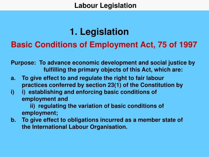 1 legislation