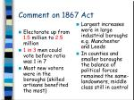 comment on 1867 act