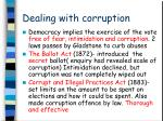 dealing with corruption