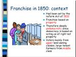 franchise in 1850 context