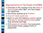 representation of the people act 1884