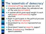 the essentials of democracy