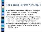 the second reform act 1867