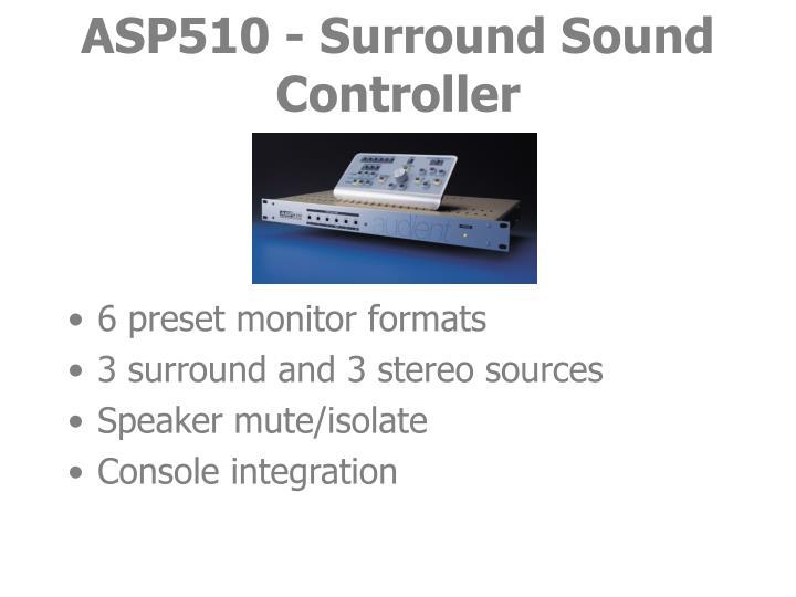 Asp510 surround sound controller