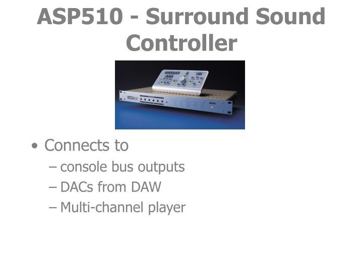 Asp510 surround sound controller3