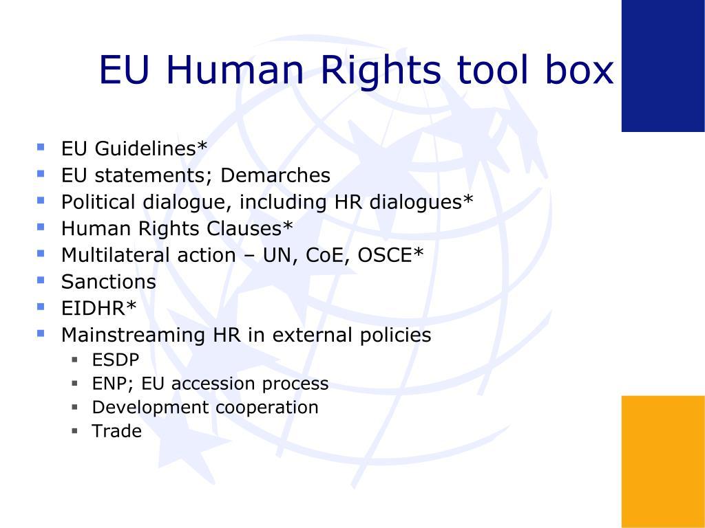 EU Human Rights tool box
