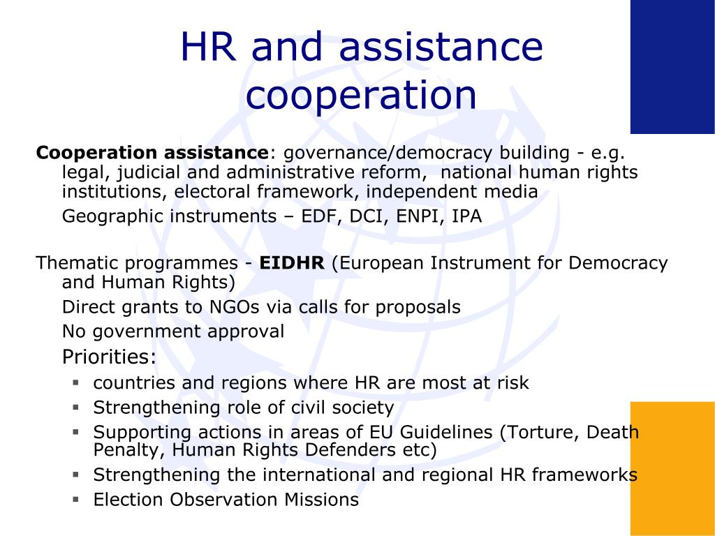 HR and assistance cooperation
