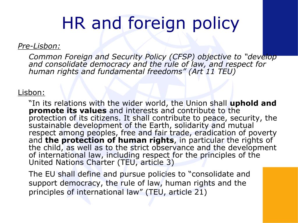 HR and foreign policy