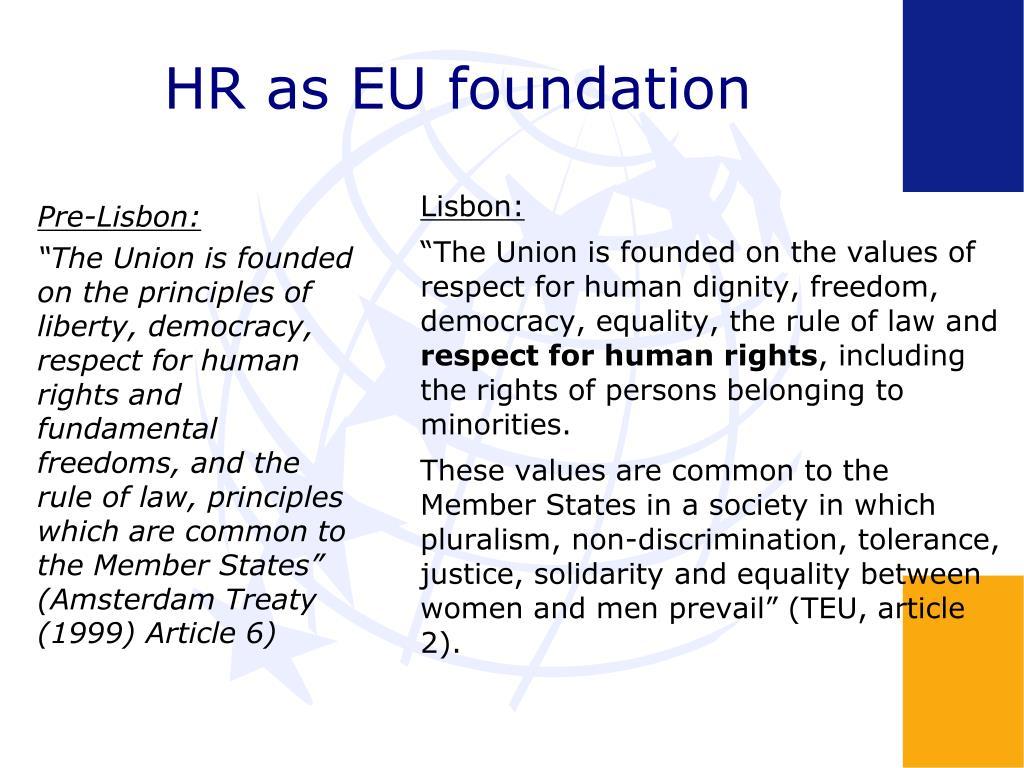 HR as EU foundation