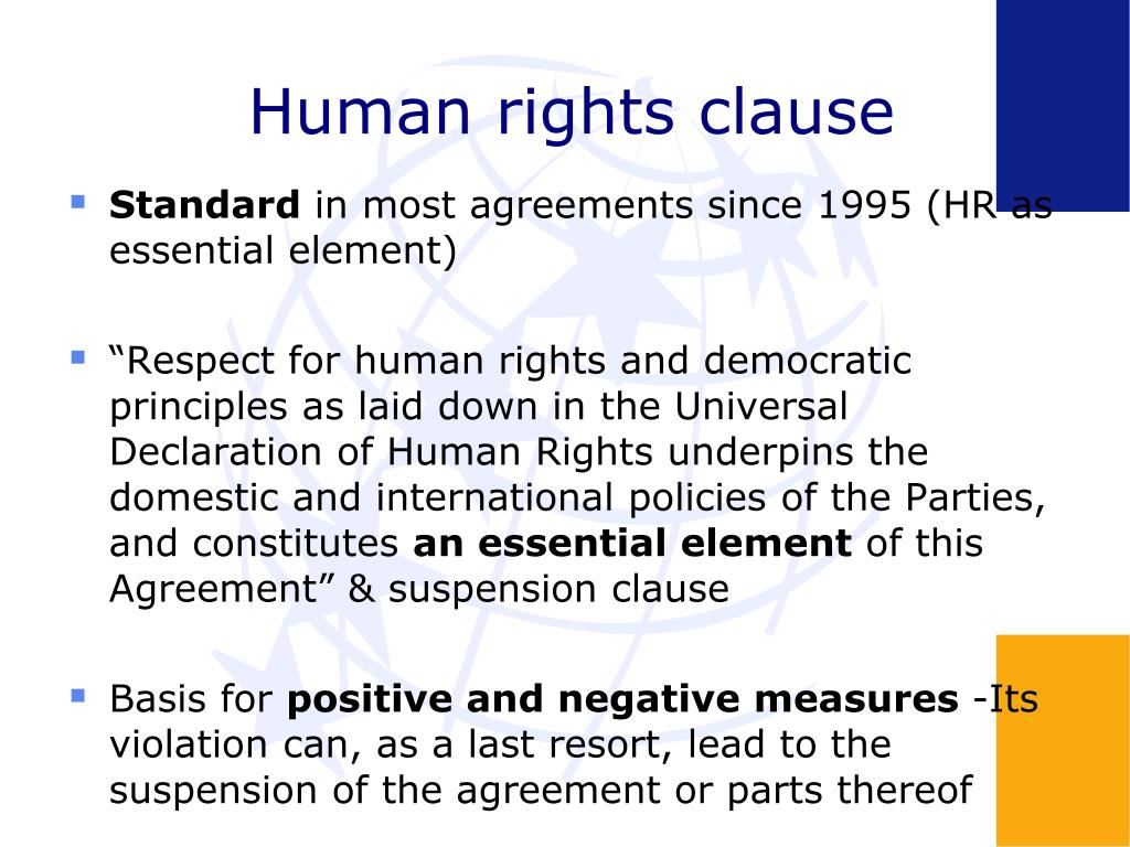 Human rights clause