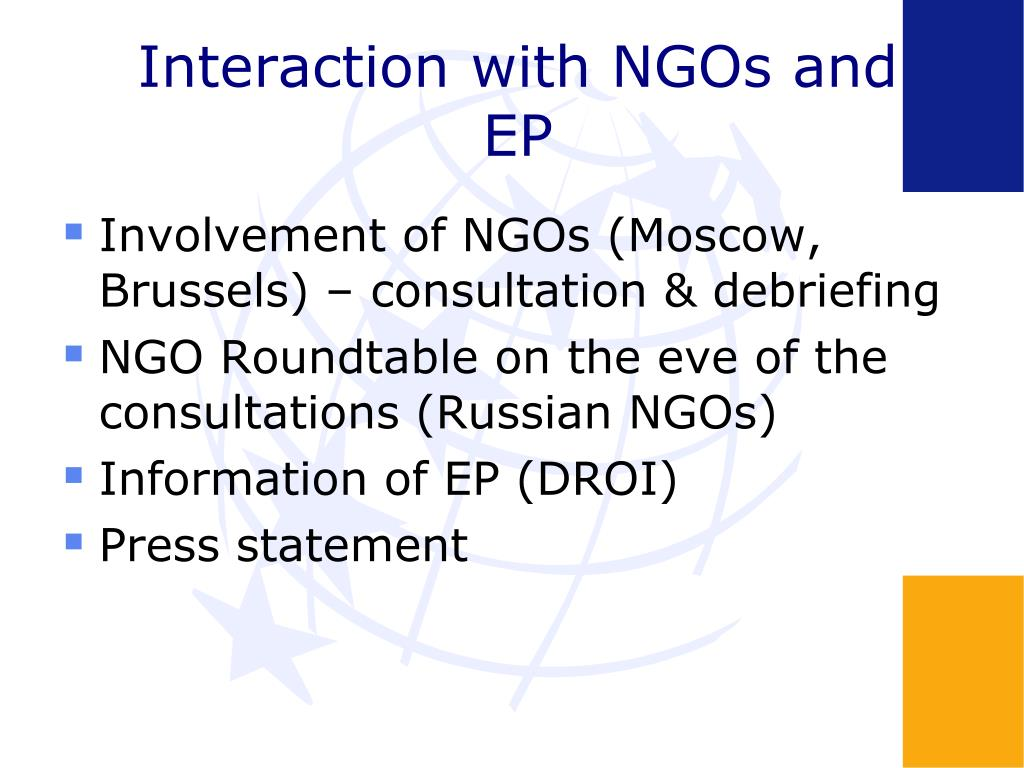 Interaction with NGOs and EP