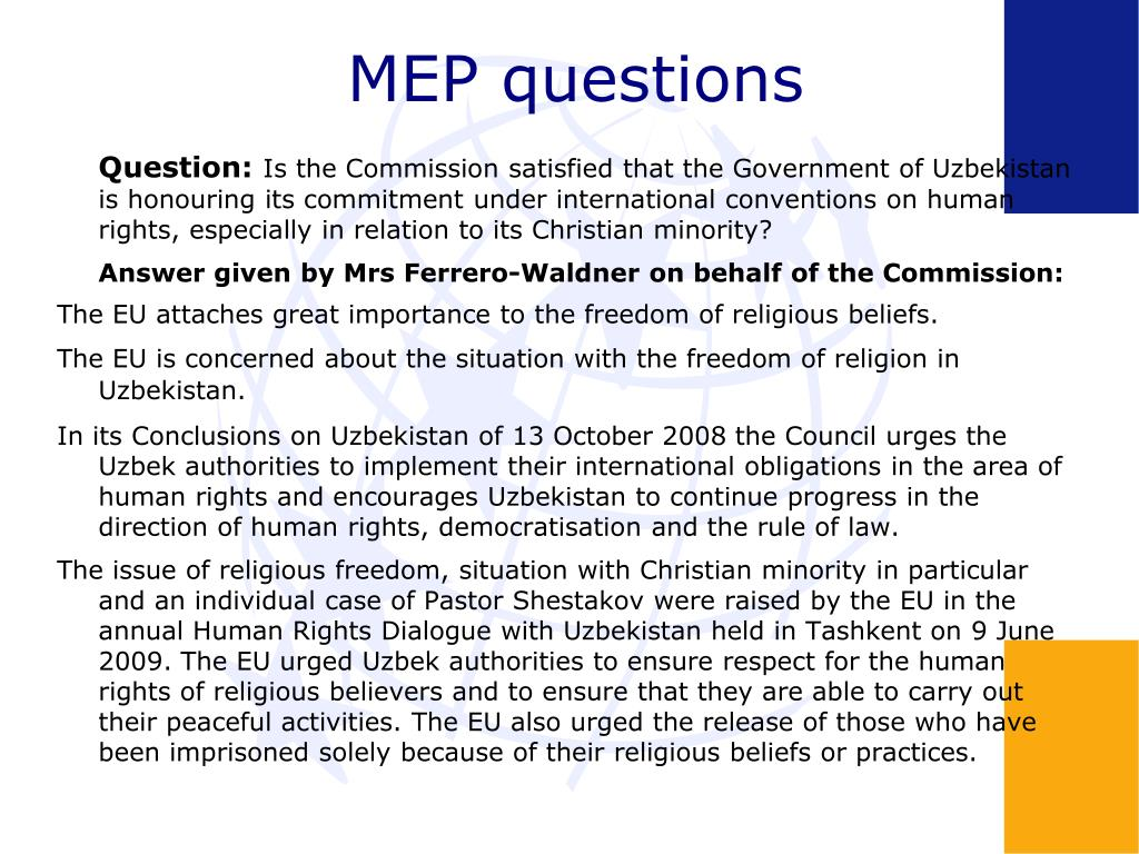 MEP questions