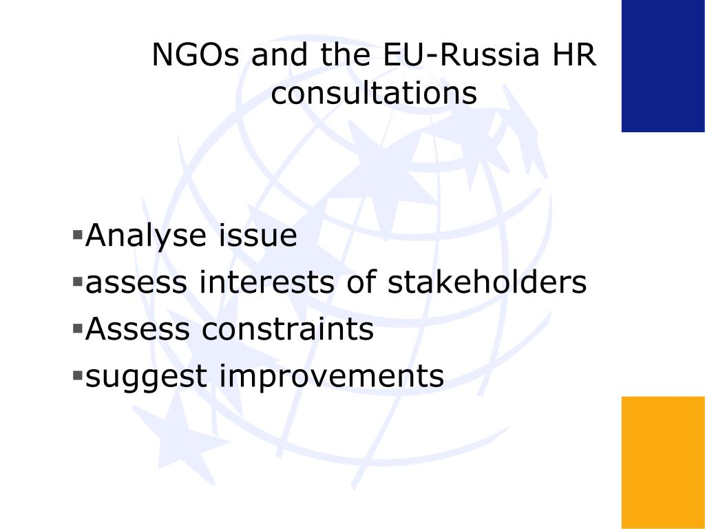 NGOs and the EU-Russia HR consultations