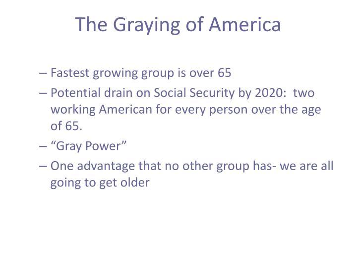 The Graying of America