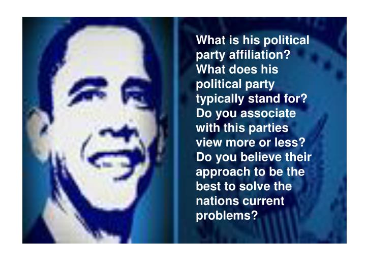 What is his political party affiliation?