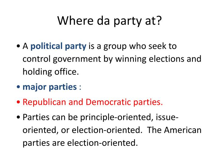 Where da party at