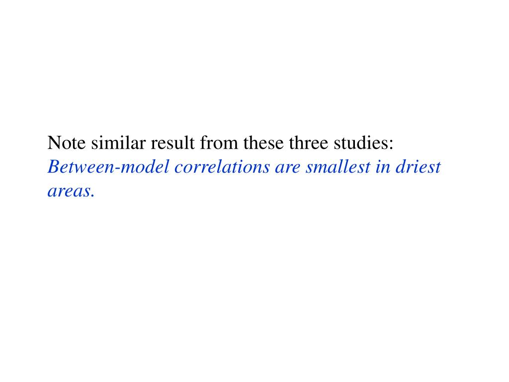Note similar result from these three studies: