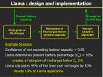 llama design and implementation