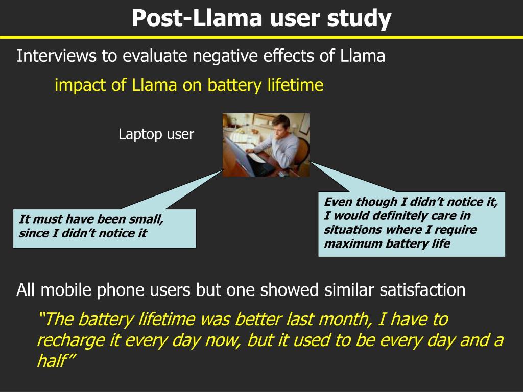 Post-Llama user study