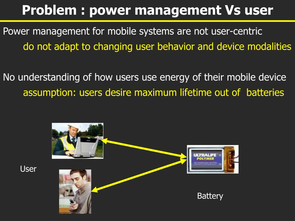 Problem : power management Vs user
