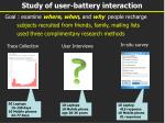 study of user battery interaction