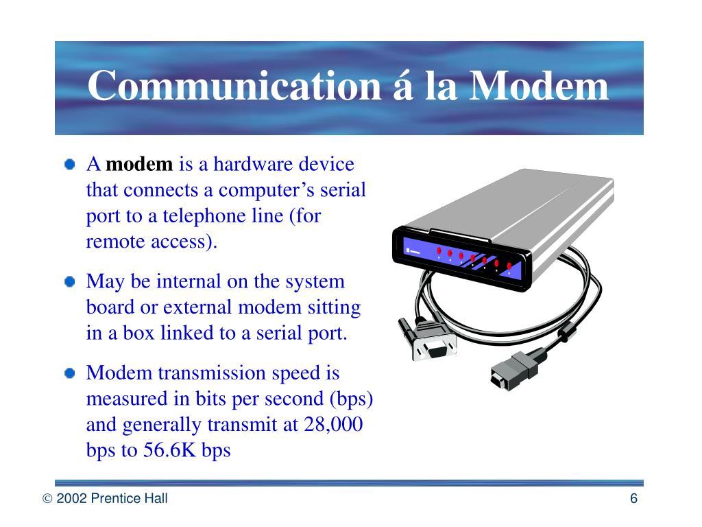 Communication á la Modem