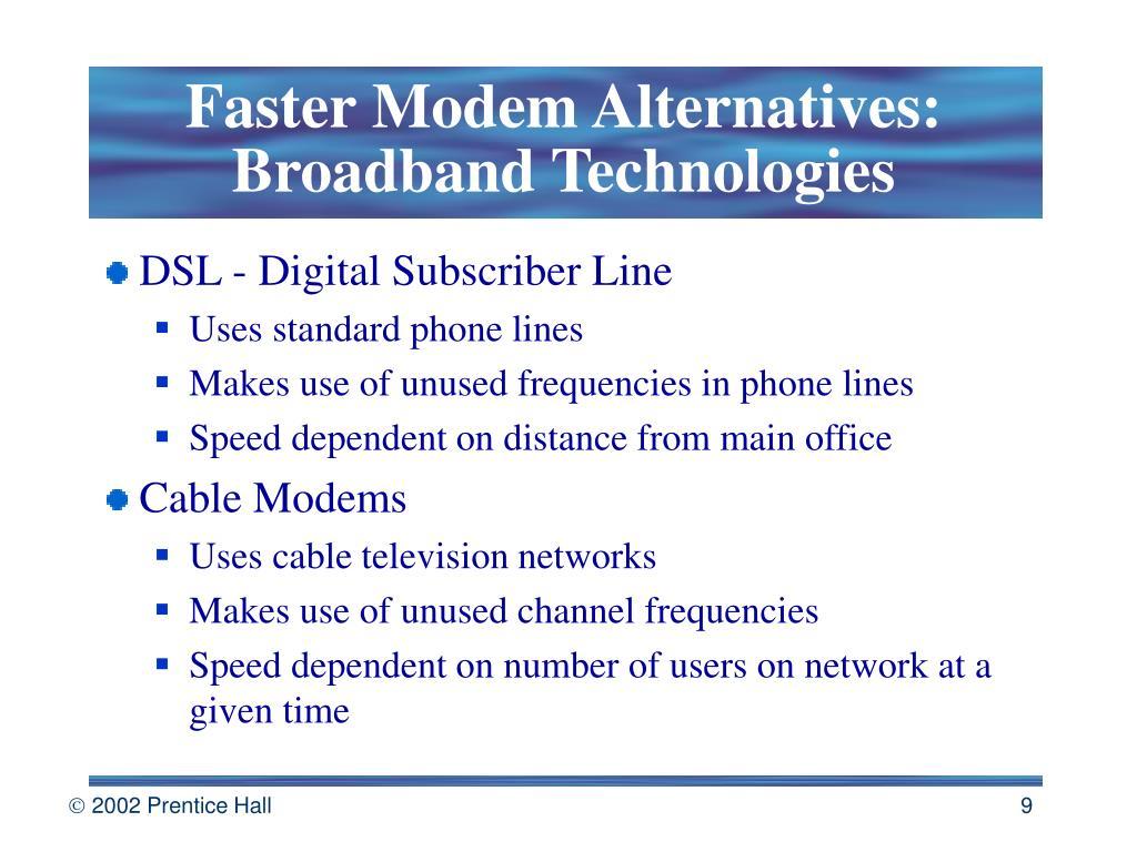 Faster Modem Alternatives: