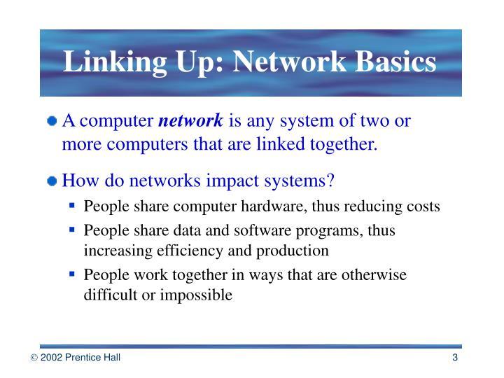 Linking up network basics