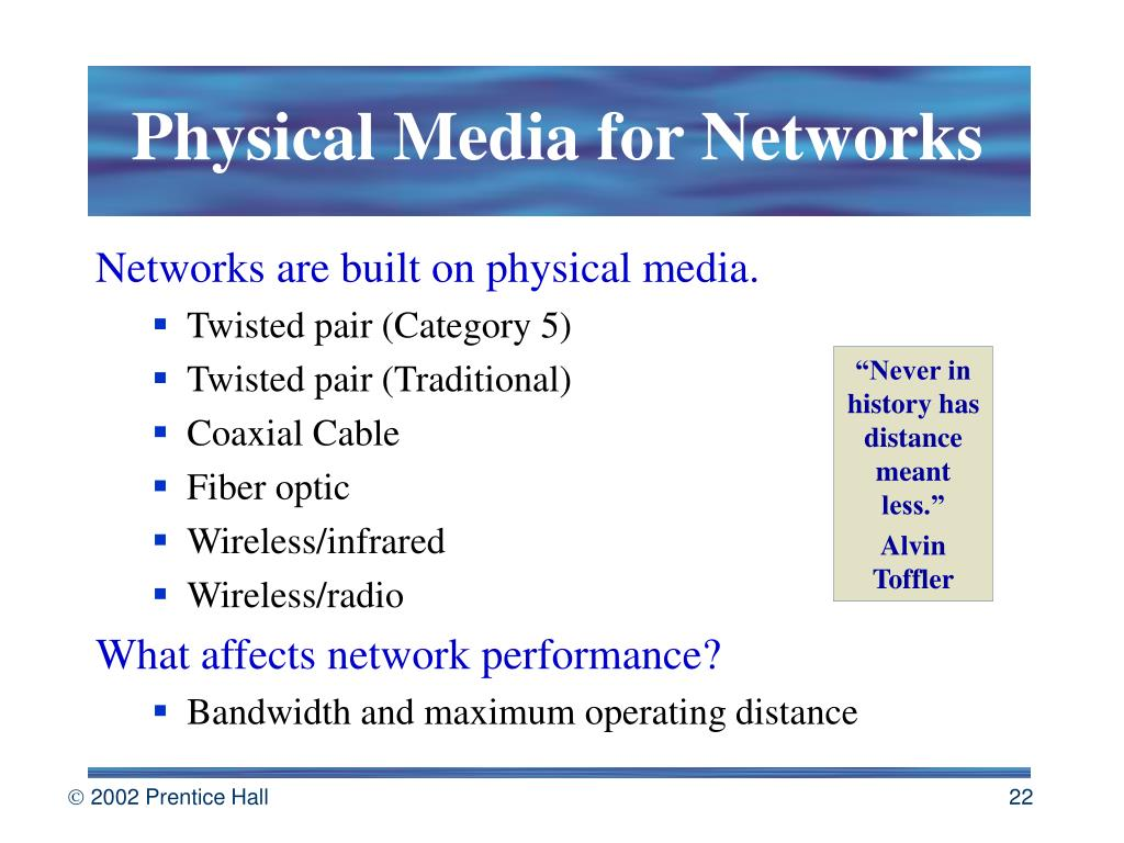 Physical Media for Networks