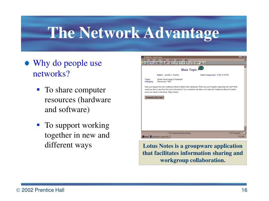 The Network Advantage