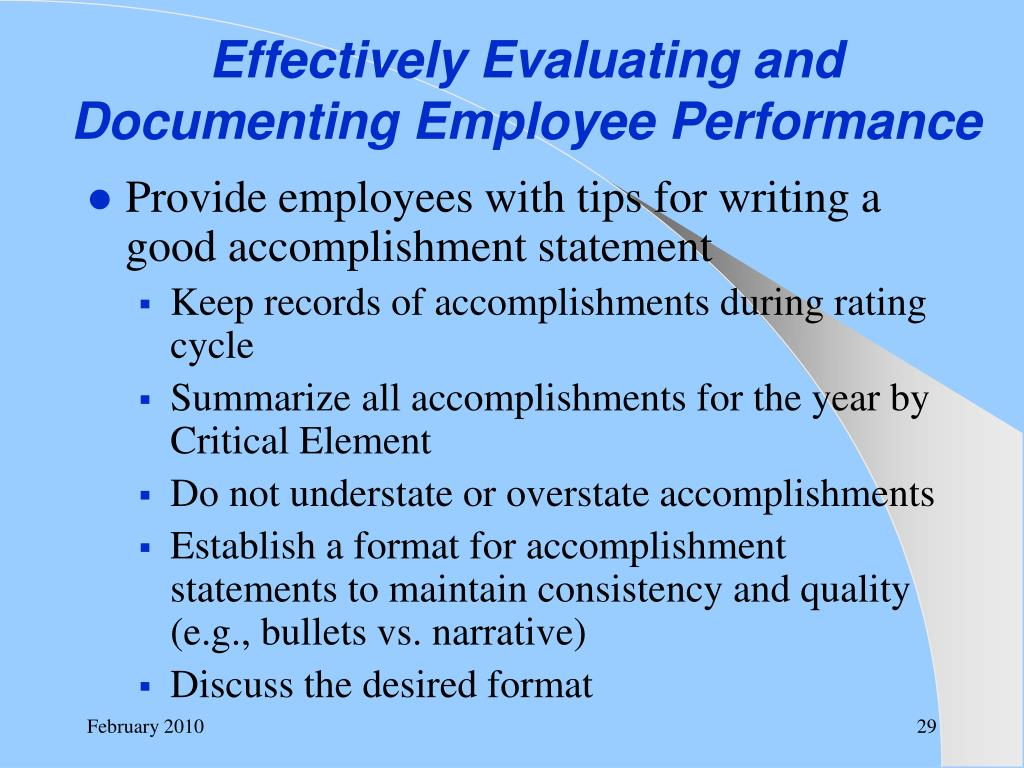 Effectively Evaluating and Documenting Employee Performance